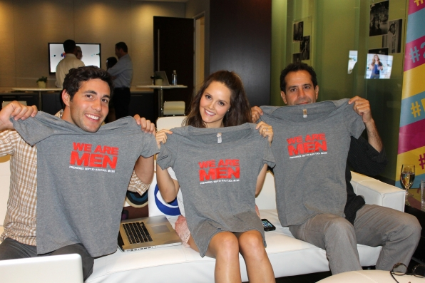 We Are Men's Chris Smith, Rebecca Breeds and Tony Shalhoub