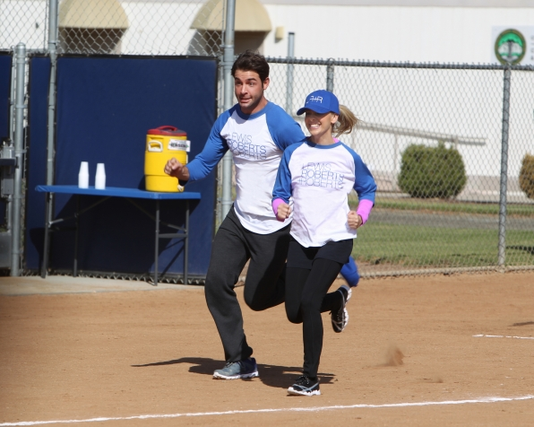 "Race to the base in ""Sixteen-Inch Softball"" Episode 9 of Season 1"