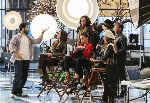 "Taking direction in ""Models Love Magic"" Episode 10 of Season 1"