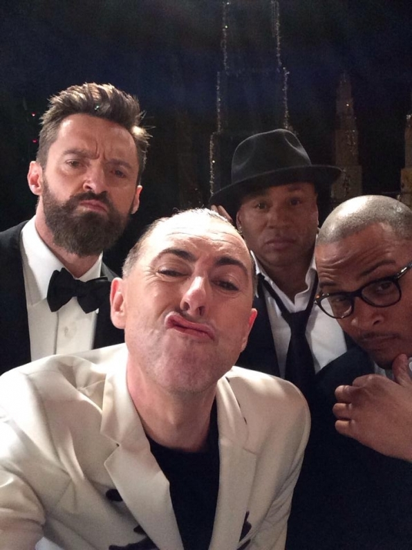 5. Hugh Jackman, Alan Cumming, LL Cool J and T.I.