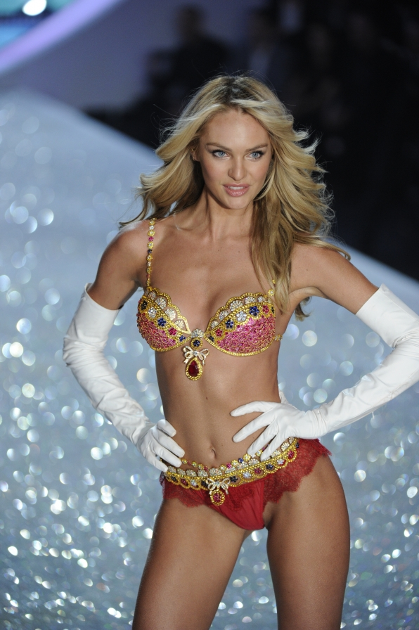 Candice Swanepoel wearing the Royal Fantasy Bra and Belt