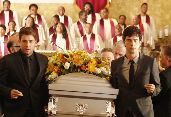 "Pallbearers in ""Dead & Improved"" Episode 15 of Season 1"