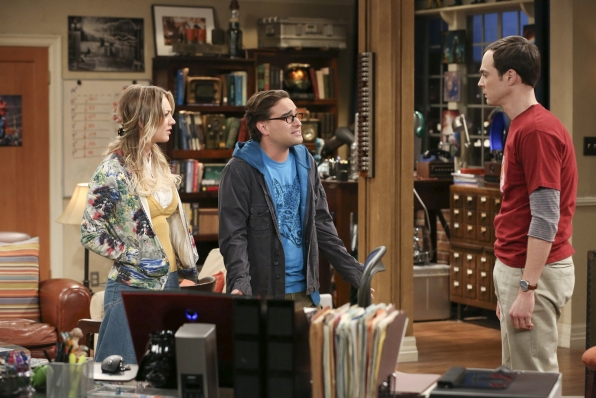 "Penny, Leonard & Sheldon in ""The Discovery Dissipation"" Episode 10 of Season 7"