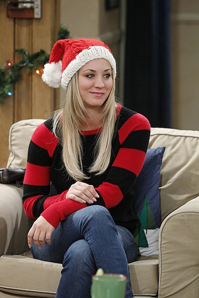 16. As Penny, she knows how to get festive