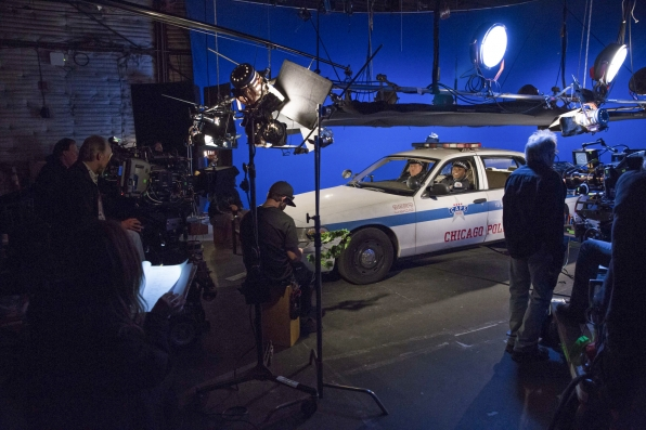 Cop car set up