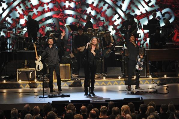 Juanes, Fher Olvera, and Tom Morello