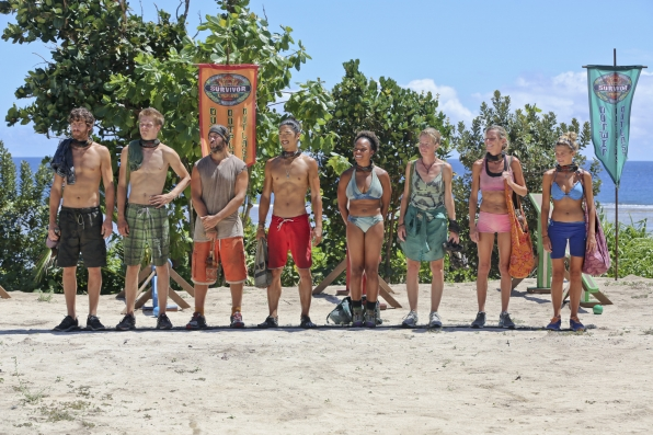 Getting ready for a challenge in Season 28 Episode 9