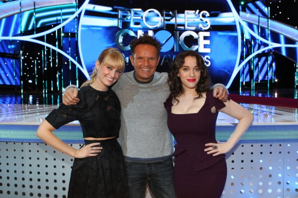 Beth Behrs, Mark Burnett and Kat Dennings