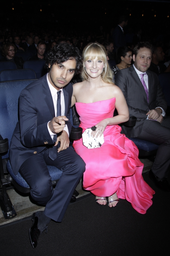 The 2014 People's Choice Awards Behind The Scenes - Kunal Nayyar and Melissa Rauch