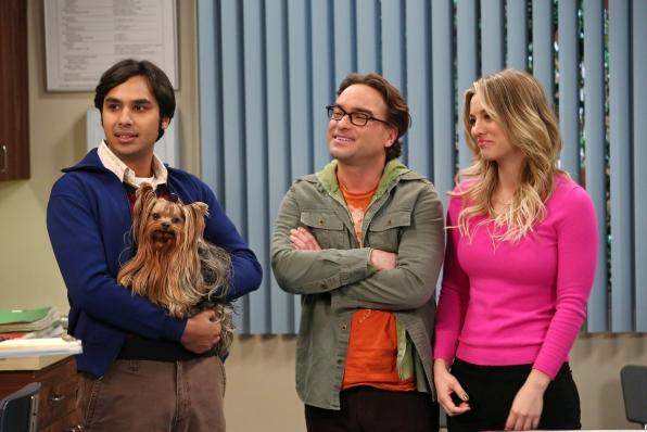 "Raj, Leonard & Penny in ""The Locomotive Manipulation"" Episode 15 of Season 7"
