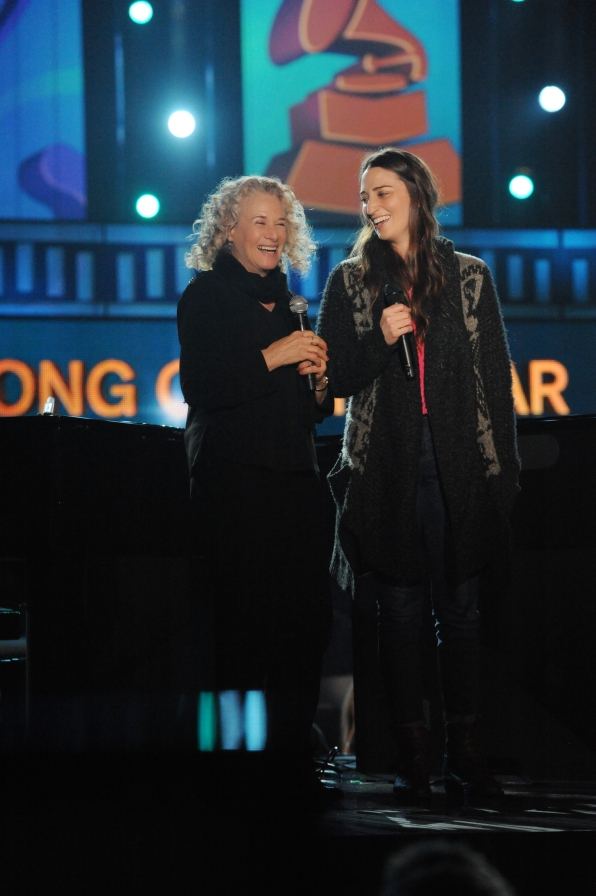 2014 GRAMMY Rehearsal Photos - Carole King and Sara Bareilles