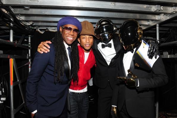 Pharrell, Daft Punk & Nile Rogers Backstage - GRAMMYs 2014 - CBS.com