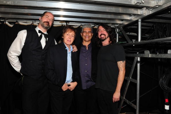 Paul McCartney, Dave Grohl Backstage - GRAMMYs 2014 - CBS.com