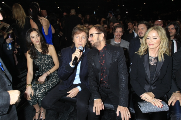 Paul McCartney and Ringo Starr - GRAMMYs 2014 - CBS.com