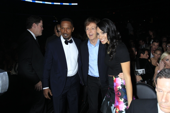 Jaime Foxx and Paul McCartney Backstage - GRAMMYs 2014 - CBS.com