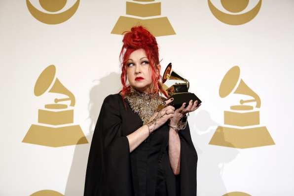 Cyndi Lauper in the Press Room - GRAMMYs 2014 - CBS.com