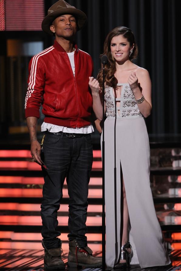 Pharrell and Anna Kendrick - GRAMMYs 2014 - CBS.com