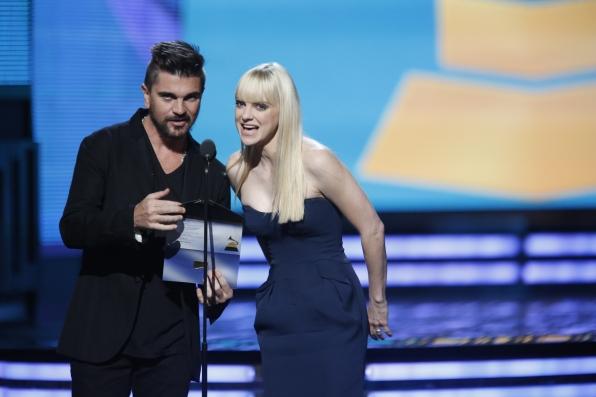Anna Faris and Juanes - GRAMMYs 2014 - CBS.com