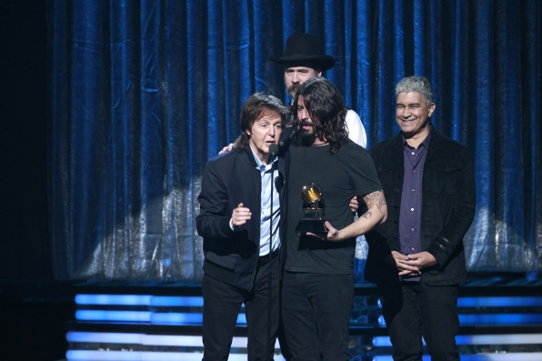 Dave Grohl, Paul McCartney, Krist Novoselic & Pat Smear - GRAMMYs 2014 - CBS.com