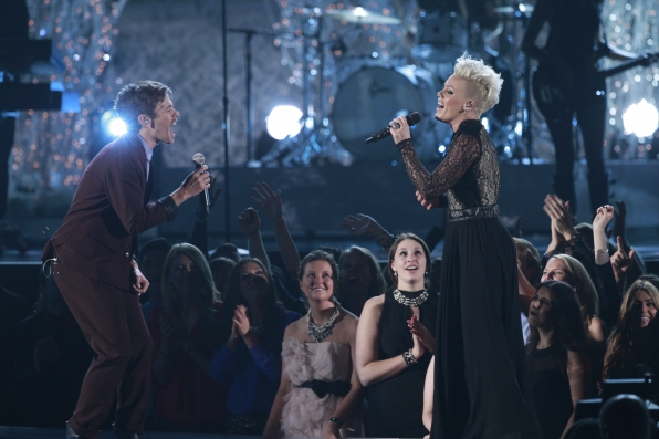 P!nk and Nate Ruess - GRAMMYs 2014 - CBS.com
