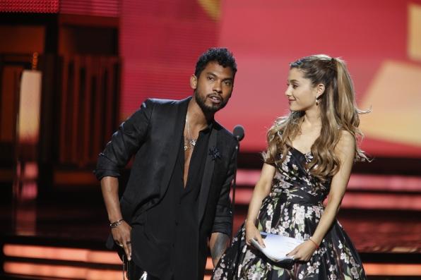 Miguel and Ariana Grande - GRAMMYs 2014 - CBS.com