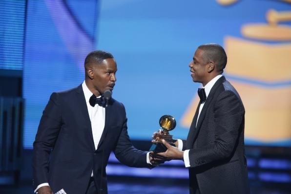 Jamie Foxx and Jay Z - GRAMMYs 2014 - CBS.com