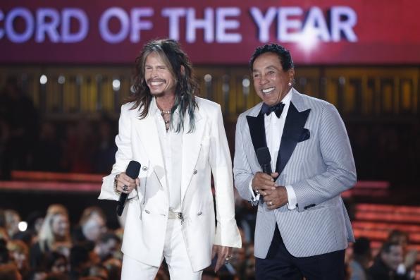 Steven Tyler and Smokey Robinson - GRAMMYs 2014 - CBS.com