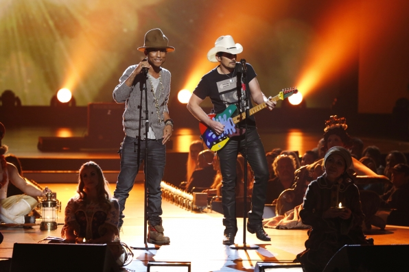 "Pharrell Williams and Brad Paisley -  ""Here Comes the Sun"" - The Beatles: The Night That Changed America- A GRAMMY® Salute- CBS.com"