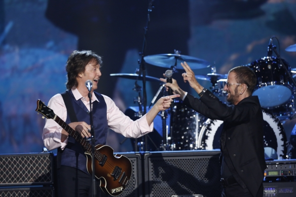 "Paul McCartney and Ringo Starr - ""Hey Jude"" -The Beatles: The Night That Changed America- A GRAMMY® Salute - CBS.com"
