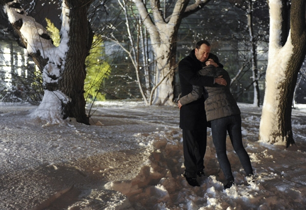 Why not hug someone in the snow?