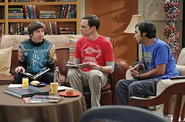 "Howard, Sheldon and Raj in ""The Proton Transmogrification"" S7 E22"