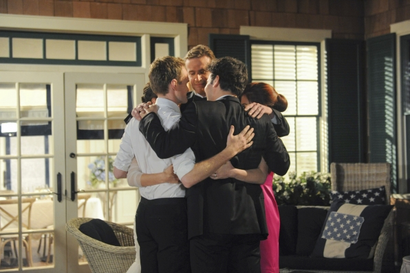 "Group hug in ""Last Forever Parts One and Two"""