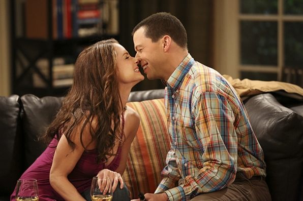 4. Alan Harper and Gretchen - Two and a Half Men