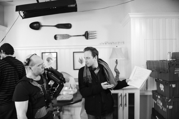 Josh Charles behind the scenes while directing S5E19