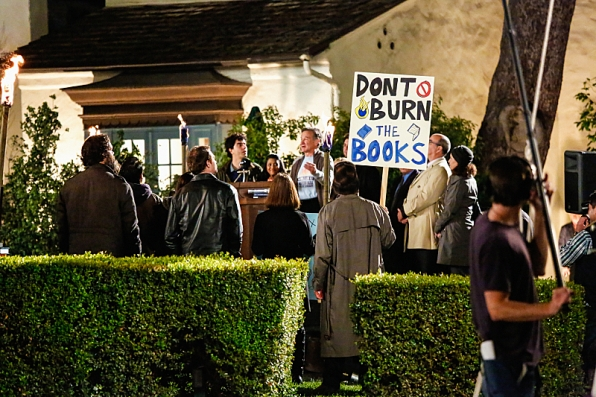 "Library rally in ""The Monster"" S1 E21"