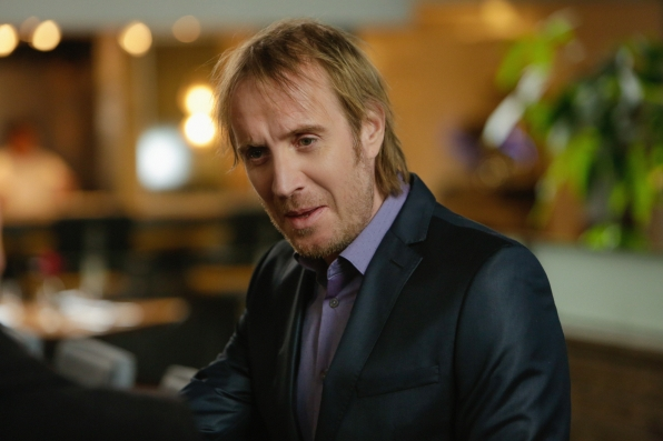 "Rhys Ifans returns as Mycroft Holmes in ""The Man With The Twisted Lip"" S2E21"