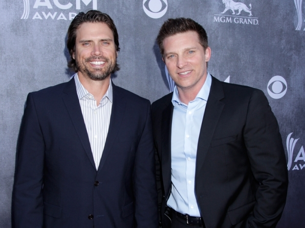 Joshua Morrow and Steve Burton (The Young and the Restless)