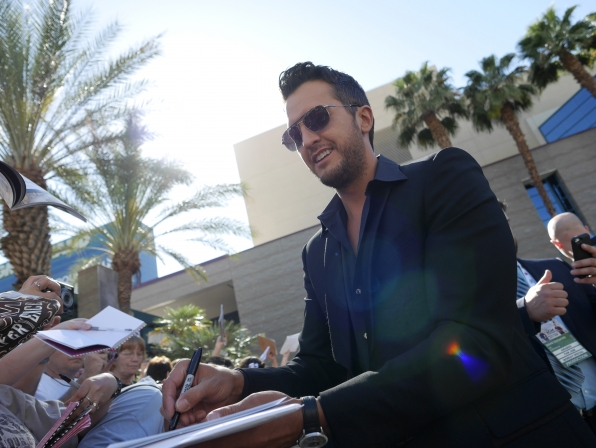 Luke Bryan on the Red Carpet - 49th ACM Awards
