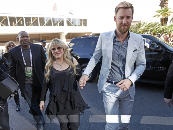 Stevie Nicks and Charles Kelley on the Red Carpet - 49th ACM Awards