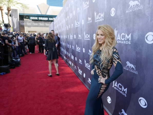 Shakira on the Red Carpet - 49th ACM Awards