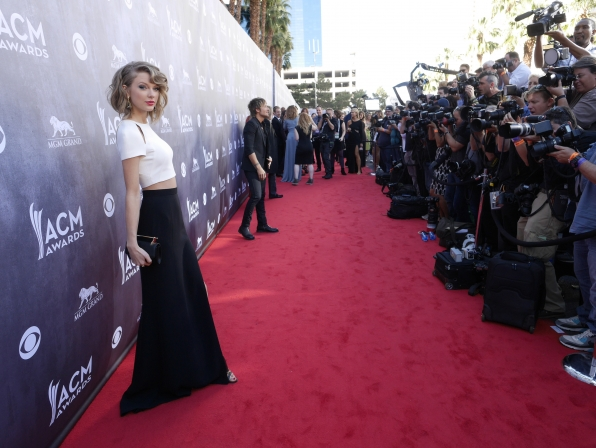 Taylor Swift on the Red Carpet - 49th ACM Awards
