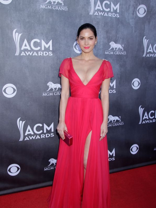 Olivia Munn on the Red Carpet - 49th ACM Awards