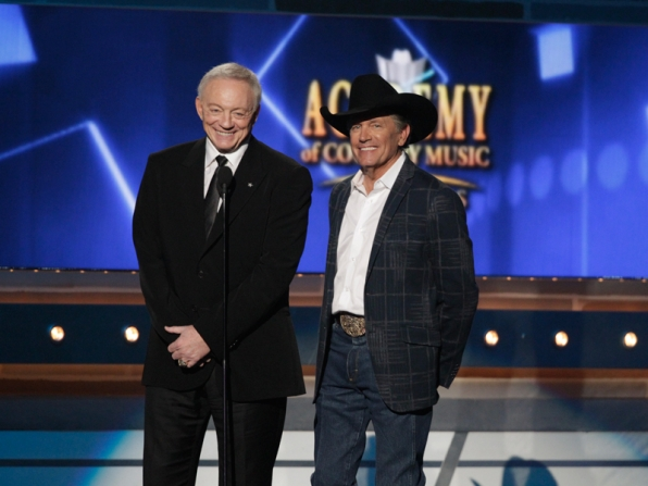 Jerry Jones and George Strait - 49th ACM Awards