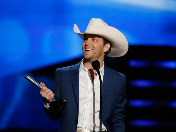 New Artist of the Year Winner, Justin Moore - 49th ACM Awards