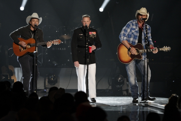 Scotty Emerick, Marine Lt. Col. Mike Corrado and Toby Keith - ACM Presents: An All-Star Salute To The Troops