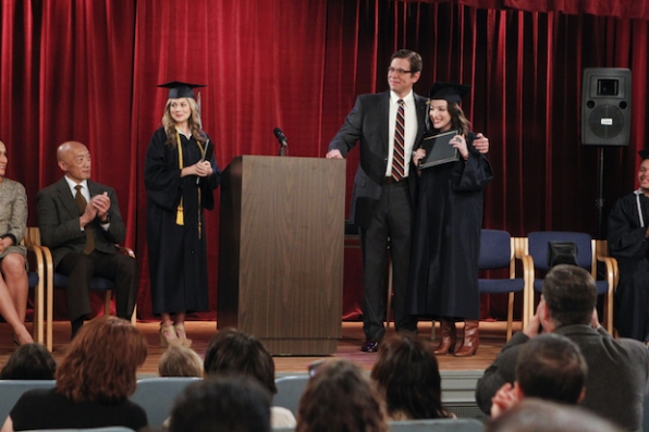 5. When Caroline helped Max finally get her high-school diploma