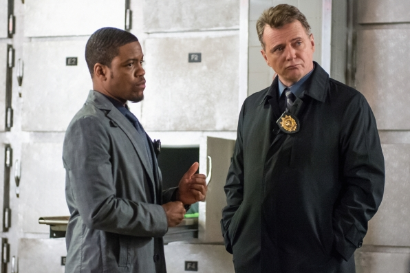 """Detective Bell and Captain Gregson in """"Art In The Blood"""" S2E23"""