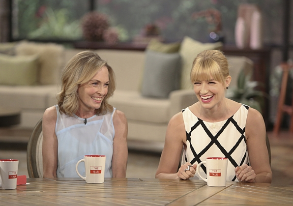 Beth Behrs and her mother stop by THE TALK