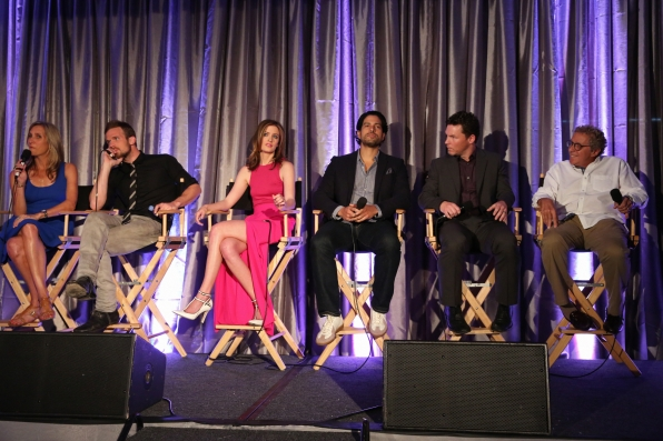 The Cast and Executive Producers of Reckless at the CBS Television Studios Summer Press Junket