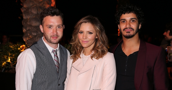 Eddie Kaye Thomas, Katharine McPhee and Elyes Gabel at the CBS Summer Soiree